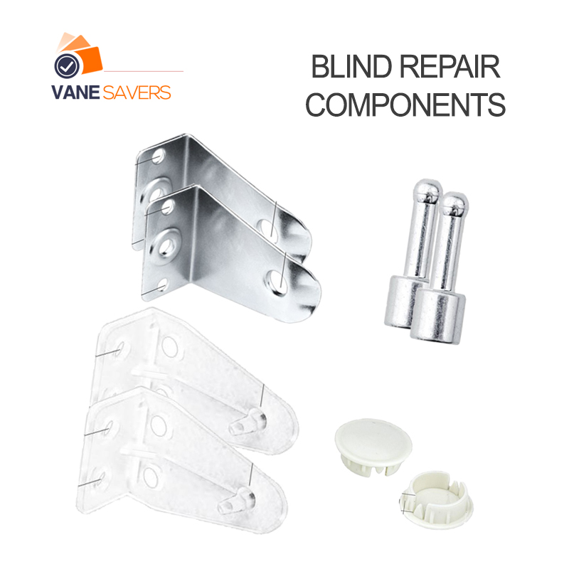 Blind repair components - hold down bracket - bottom rail plug